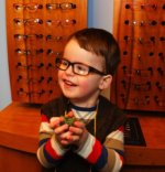Bertie at the Opticians